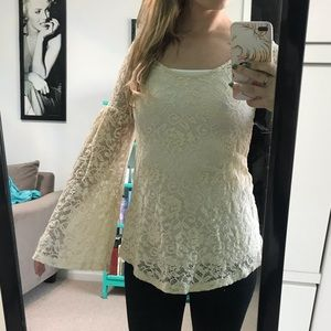 Lace witchy woman blouse with bell sleeves